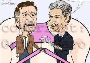 Karikature: Berisha - Pango ; Inagurimi i Radhes