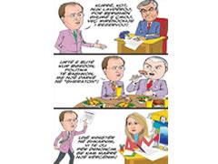 Karikature per Dritan Priftin