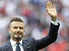 Beckham var kepucet ne gozhde