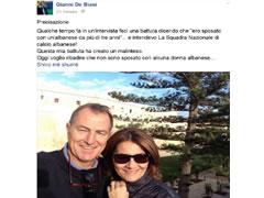 De Biazi sakteson: Gruaja ime eshte Paola, gruaja shqiptare eshte Kombetarja