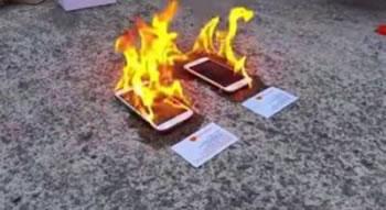 iPhone 6 vs Galaxy S5, cili e kalon proven e zjarrit