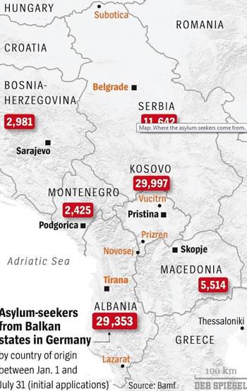 'Der Spiegel' publikon harten, ne 7 muaj 30 mije azilante shqiptare ne Gjermani