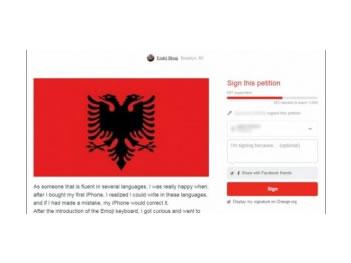 Nis peticioni per futjen e gjuhes shqipe ne menune e iPhone