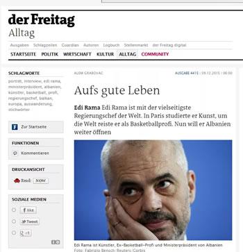 Rama pranon per 'der Freitag': Dobet ne matematike dhe si organizator