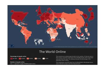 Harta e internetit: Kina me 600 mln perdorues, SHBA 270 mln