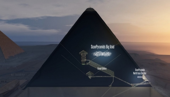 Zbulohet dhoma sekrete brenda piramides se Keopsit