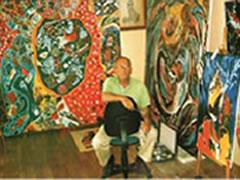 Nje piktor kosovar ne Muzeun Historik