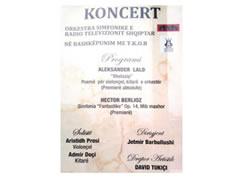 Koncert simfonik i orkestres se RTVSH
