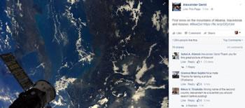 Astronauti gjerman, foto te maleve te Shqiperise nga hapesira