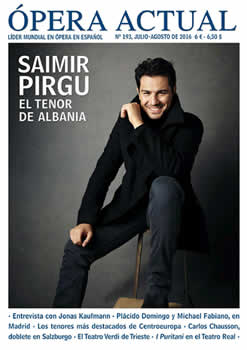 Saimir Pirgu ne kopertinen e revistes spanjolle 'Opera Actual'