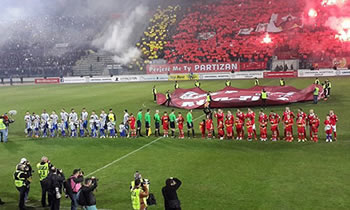 Derbi 'ne ekzil' i kryeqytetit, Partizani 'ndez' atmosferen